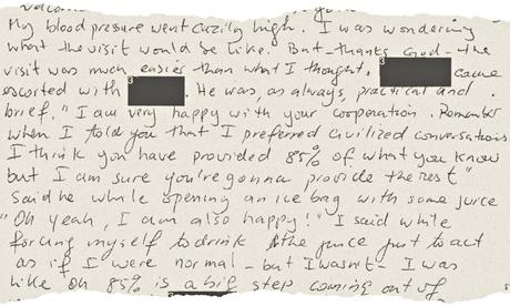 Το χειρόγραφο του Σλαχί στο οποίο «ομολογεί» ότι ήθελε να ανατινάξει τον πύργο CN.