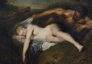 Jean-Antoine Watteau Nymphe et satyre - Nymph and Satyr 1715 French school Louvre Museum - Paris