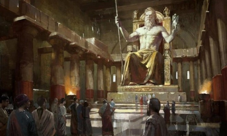 gold-statue-of-zeus